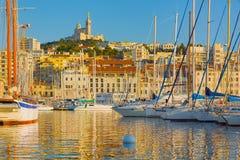Jachty w porcie Marseille Zdjęcia Stock