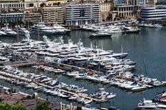 Jachty w porcie Monaco Zdjęcia Stock