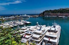 Jachty w porcie Monaco Zdjęcie Royalty Free