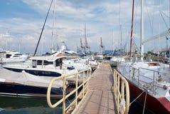 Jachty w porcie Odessa, Ukraina Obraz Stock