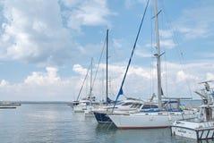 Jachty w porcie Odessa, Ukraina Obrazy Royalty Free
