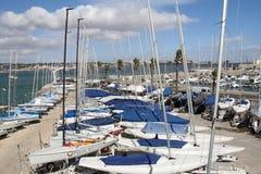 Jachty w schronieniu Cascais, Portugalia Obraz Royalty Free