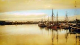 Jachty w zatoce Obrazy Royalty Free