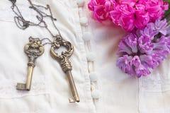 Jacinthes roses et violettes Image libre de droits