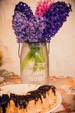 Jacinto rosado y violeta magnífico Imagenes de archivo