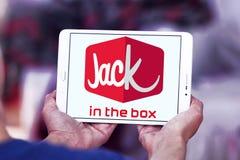 Jack στο λογότυπο εστιατορίων γρήγορου φαγητού κιβωτίων Στοκ φωτογραφία με δικαίωμα ελεύθερης χρήσης