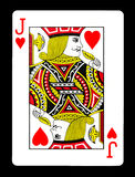 Jack των καρδιών που παίζουν την κάρτα, Στοκ εικόνα με δικαίωμα ελεύθερης χρήσης