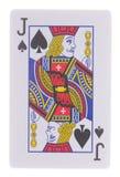 Jack των φτυαριών που παίζουν τις κάρτες που απομονώνονται στο λευκό Στοκ εικόνα με δικαίωμα ελεύθερης χρήσης