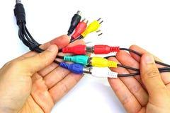 Jack кабеля ТВ стоковая фотография