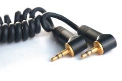 Jack кабеля тональнозвуковой на изолированной белой предпосылке Стоковое Изображение