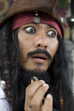jack капитана карибский пиратствует воробья Стоковое Изображение