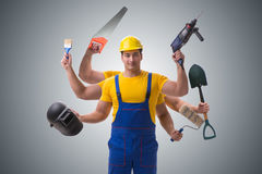 The jack of all trades concept with worker Royalty Free Stock Images