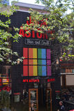 Jack Astor's Bar and Grill shows gay pride support Royalty Free Stock Image