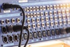 Jack audio włączniki łączą rozsądny melanżer fotografia stock