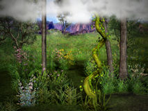 Jack and the Beanstalk 2. An enchanted scene of Jack and the Beanstalk Stock Photos