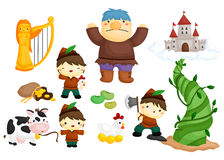 Jack and the beanstalk. A vector of jack and the beanstalk Stock Photo