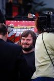 Jack Black na liberação da panda DVD de Kung Fu. Imagens de Stock