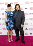 Jack Black and Tanya Haden Stock Image