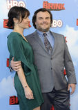 Jack Black and Tanya Haden Stock Photo