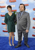 Jack Black and Tanya Haden Stock Images