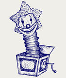 Jack in the box. Doodle style Royalty Free Stock Photos