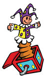 Jack-in-the-box. Cartoon illustration of a jack-in-the-box Stock Photo