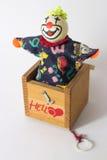 Jack In The Box dice ciao Fotografia Stock Libera da Diritti