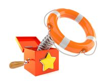Jack in the box with life buoy Royalty Free Stock Photo