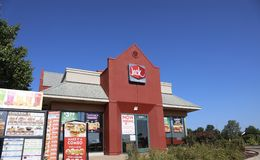 Jack in the Box Restaurant stock photography