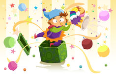 Jack in the box surprise Stock Images