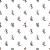 Jack in the box toy pattern seamless Stock Photo