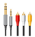 Jack cable plug Royalty Free Stock Photo