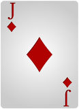 Jack card diamonds poker Royalty Free Stock Images