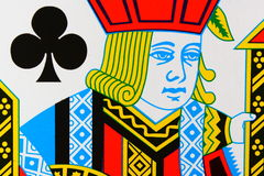 Jack of Clubs. Playing card captured very closeup stock images