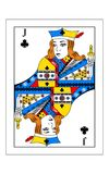 Jack of clubs. The beautiful card of the Jack of clubs in classic style Stock Image