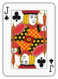 Jack of clubs. Playing card Royalty Free Stock Photos
