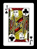 Jack of clubs playing card, Royalty Free Stock Images