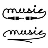 Jack connectors music calligraphy Royalty Free Stock Photo