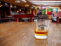 Jack Daniel à un bar, Montreux, Suisse image libre de droits