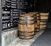 Jack Daniel distillery. Whisky barrels in Jack Daniel distillery in Lynchburg, Tennessee Stock Photo