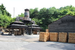 Jack Daniel's Distillery. Jack Daniels HQ in Lynchburg Tennessee. Jack Daniel's is a brand of sour mash Tennessee whiskey that is the highest selling American royalty free stock photos