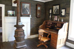 Jack Daniel's Distillery - Office. Jack Daniels HQ in Lynchburg Tennessee, USA. This was Jack's office. Jack Daniel's is a brand of sour mash Tennessee whiskey royalty free stock photos