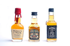 Jack daniels, chivas regal, marker's mark Stock Image
