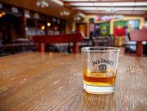 Jack Daniels på en bar, Montreux, Schweiz royaltyfri bild