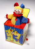 Jack in de doos, clown Royalty-vrije Stock Foto