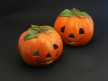 Jack de sourire o'Lanterns Images stock