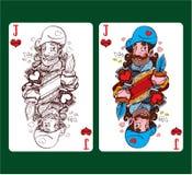 Jack del simbolo della carta da gioco dei cuori Immagine Stock
