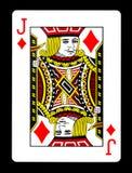 Jack della carta da gioco dei diamanti, Fotografia Stock Libera da Diritti
