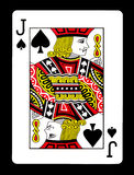 Jack der Spielkarte der Spaten, Stockbild
