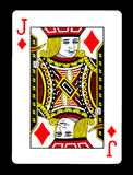 Jack des diamants jouant la carte, Photo libre de droits